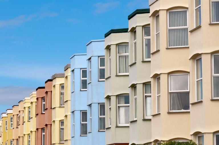 multi-colored apartment units