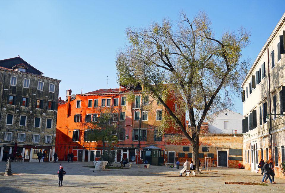 Campo de Ghetto Nuovo in Venice