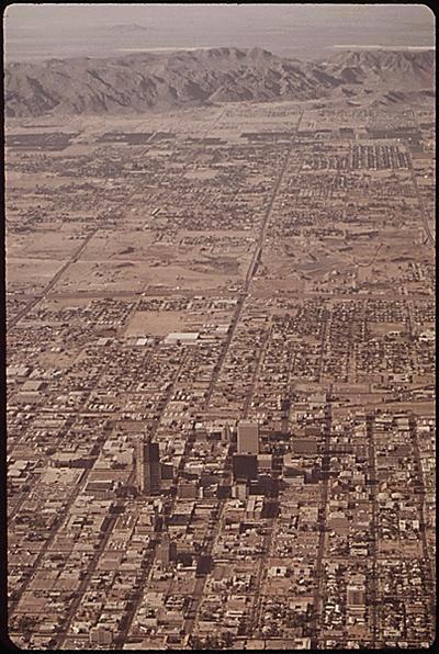 Aerial Photo of Phoenix, Arizona - 1972