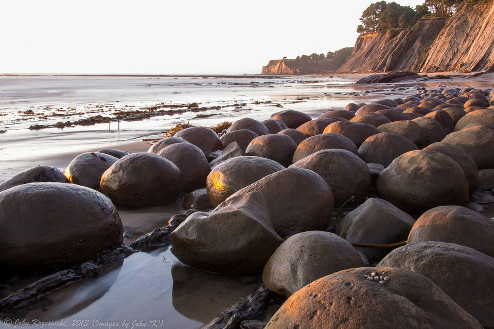 Bowling Ball Beach in Mendocino