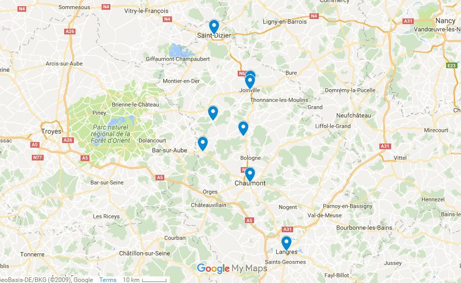 Champagne Treasures Map