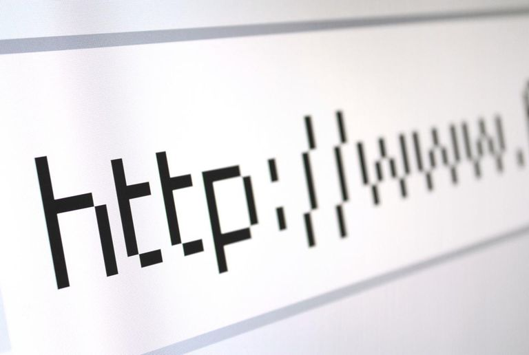 Address bar of a web browser, close up view
