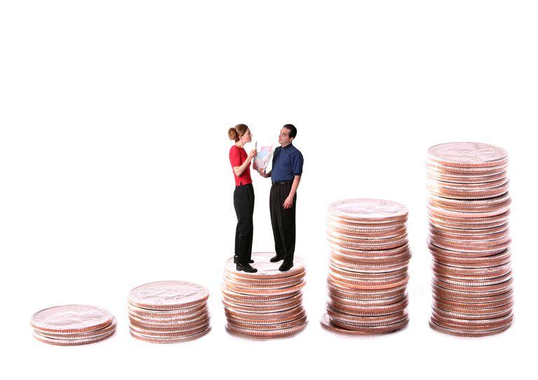 couple talking finances