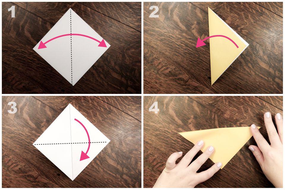 origami finger puppet tutorial