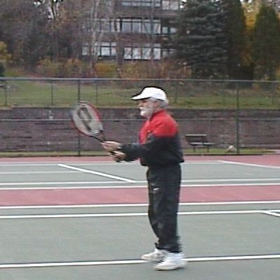 ready position for backhand overhead