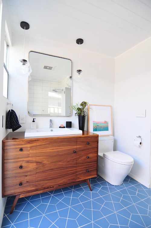 Blue Bathroom With Tile Floor: 11 Beautiful Blue Bathrooms