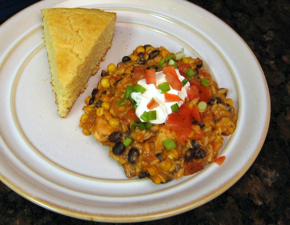 Southwesterm Chicken Rice Bake