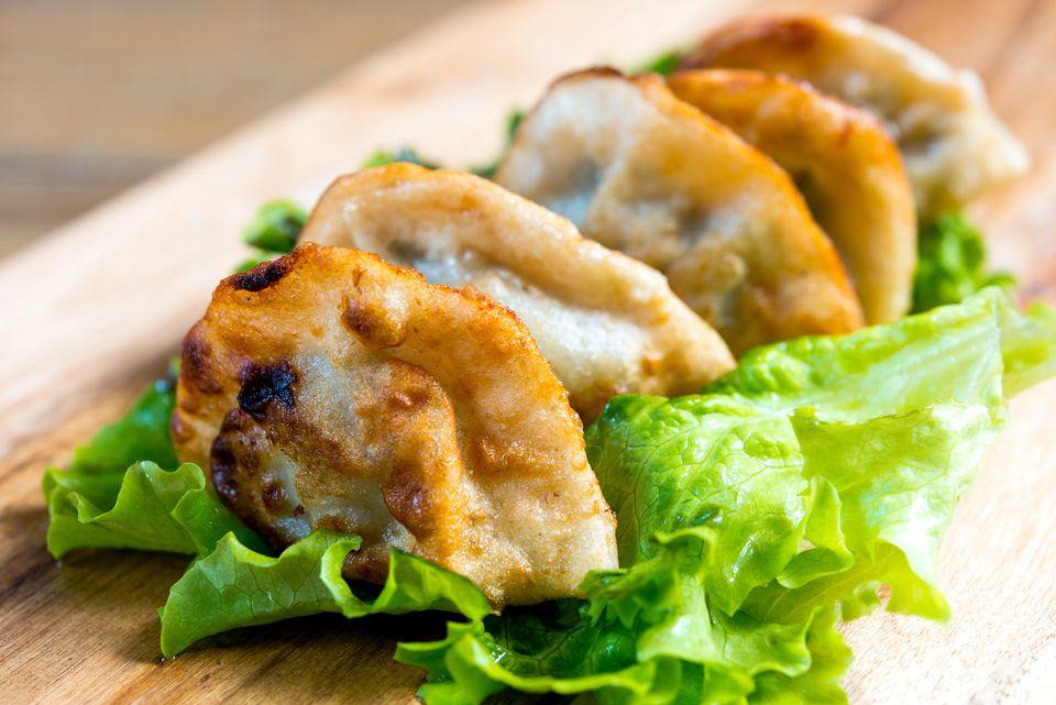 Close up of dumplings