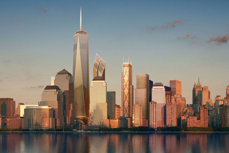 Proposed 2006 Manhattan Skyline of the New World Trade Center Office Towers