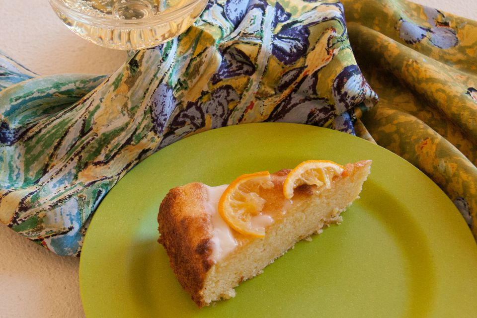 This cake is made with whole, boiled Meyer lemons!
