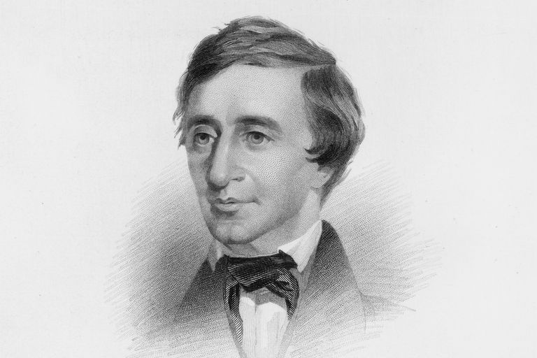 Engraved portrait of Henry David Thoreau