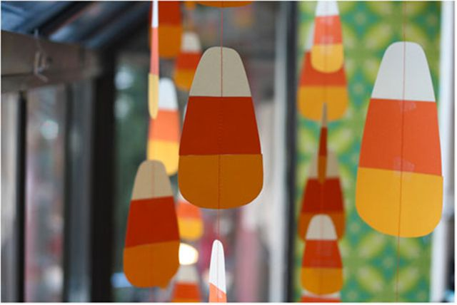 Hanging Candy Corn Window Decoration