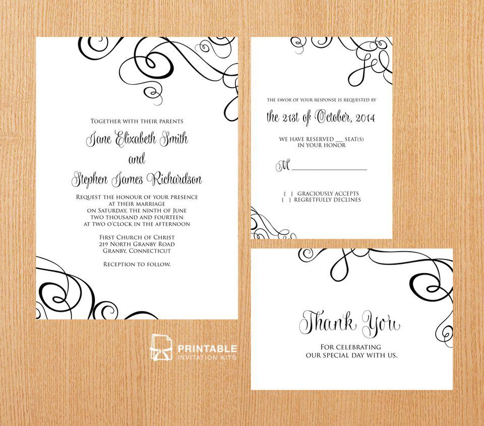 22 Free Printable Wedding Invitations