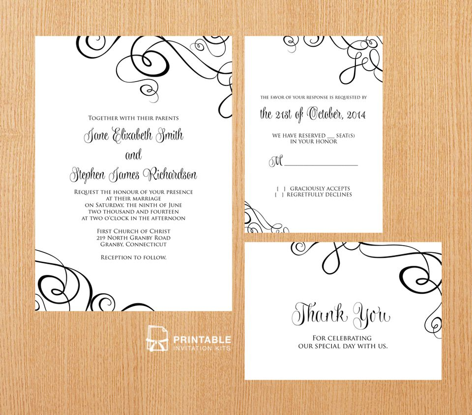 22 Free Printable Wedding Invitations