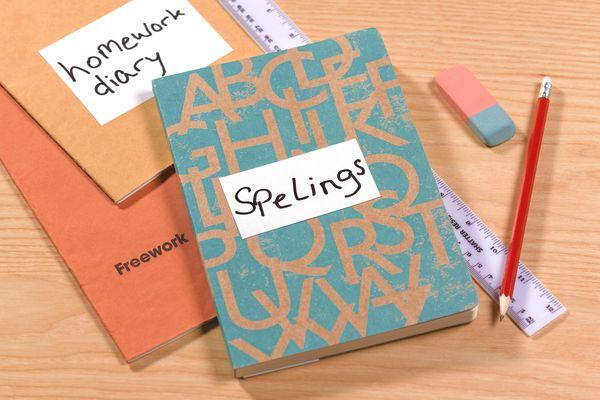 Dyslexia and ADHD homework note books