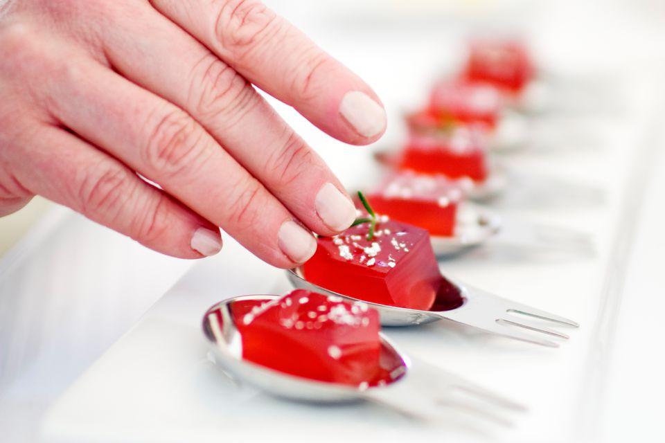 Pomegranate Rosemary Jell-O Shots