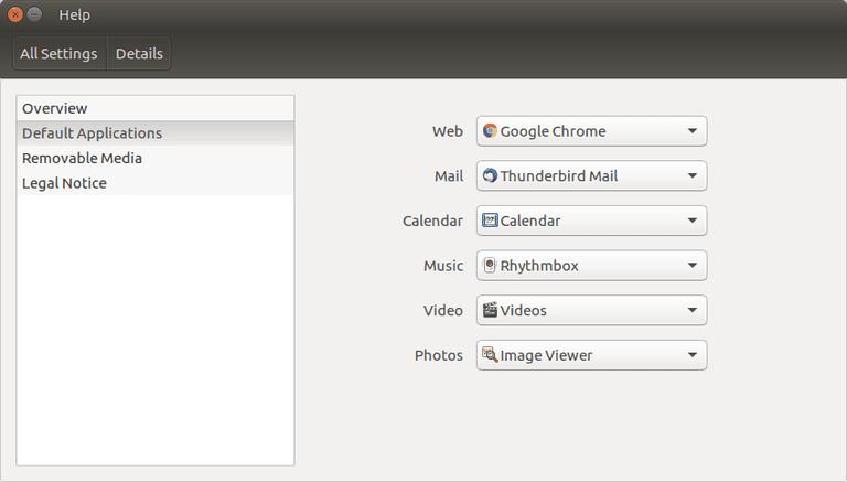 Ubuntu Default Applications