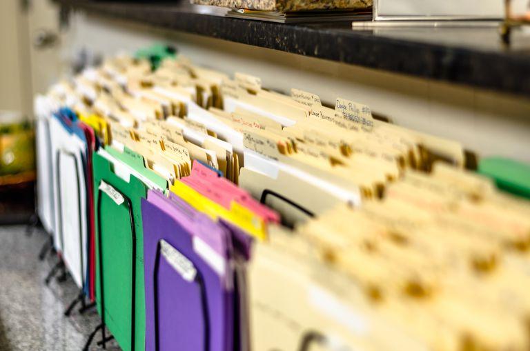 Close-Up of File Folders