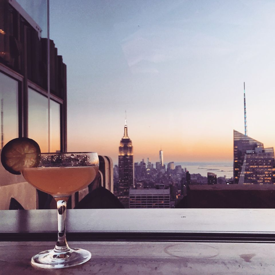 NYC skyline cocktail