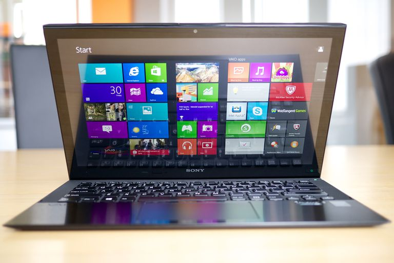 Picture of a Windows 8 laptop computer