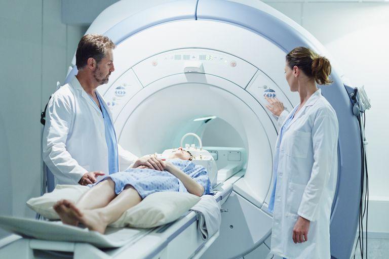 An MRI test.
