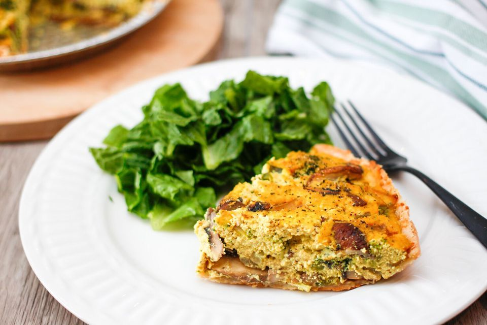 Vegan Broccoli Quiche