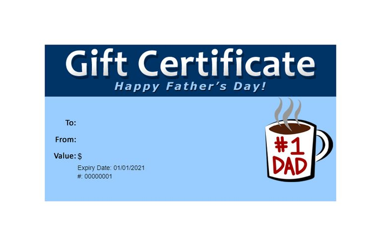 173 free gift certificate templates you can customize a fathers day gift certificate template yelopaper Gallery
