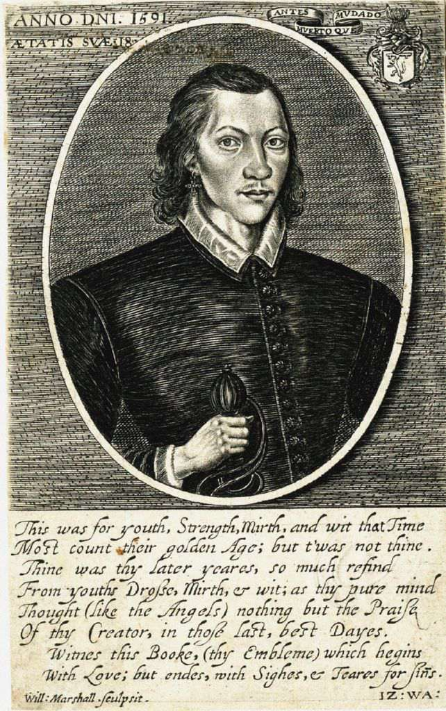 Portrait Of The Poet John Donne (1572-1631) At The Age Of 18