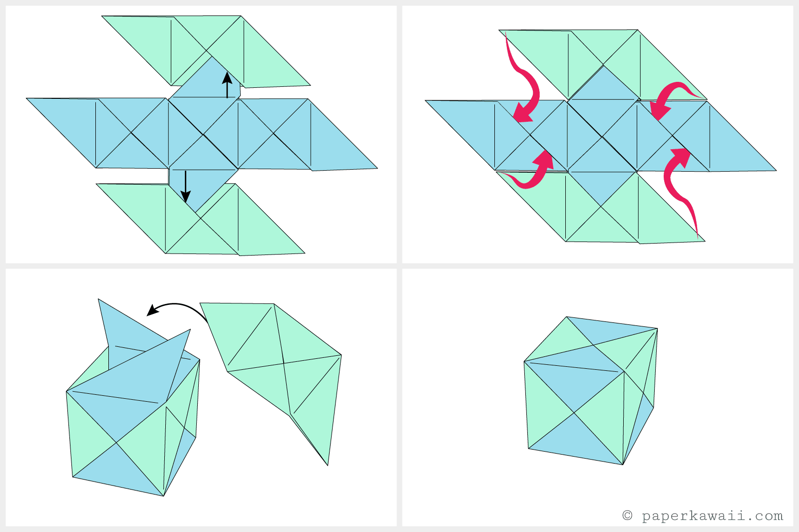 How to make a modular origami cube box jeuxipadfo Image collections