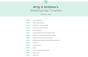 Free Wedding Itinerary Templates And Timelines - Day of wedding timeline template free