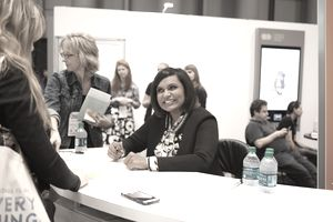 TV showrunner / producer / star Mindy Kaling signs books at BEA 2015
