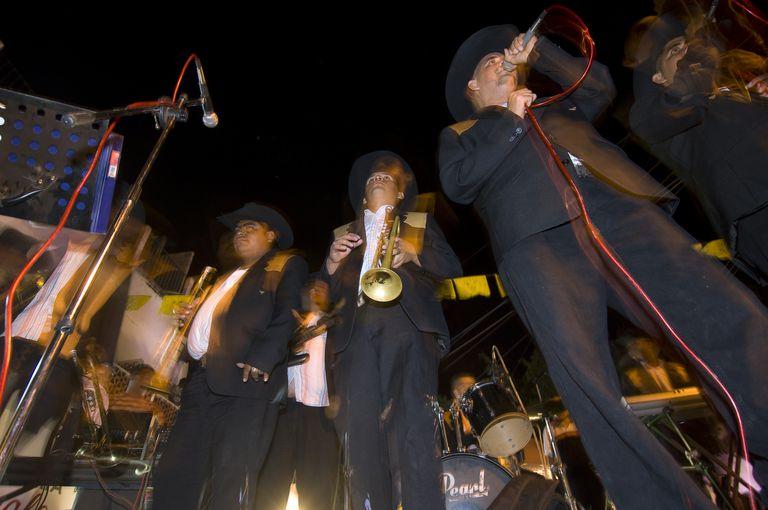 Banda music in the streets of Puerto Vallarta, Mexico