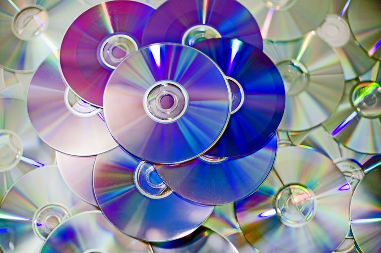 Photo of a pile of DVDs