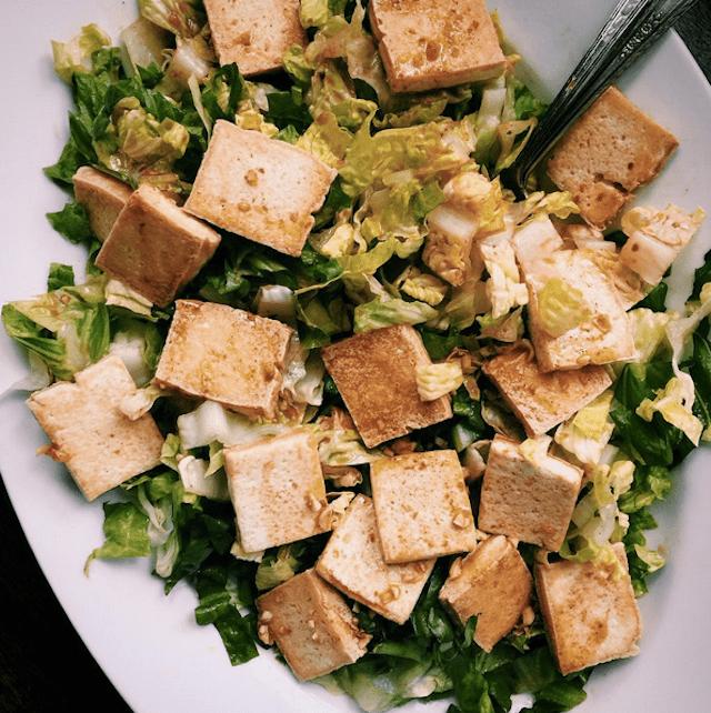 Soy Glazed Tofu Salad