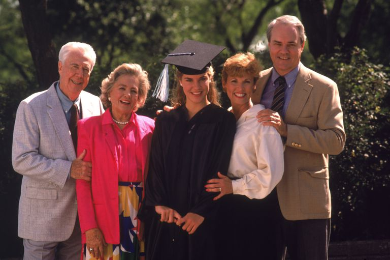 Family with college graduate
