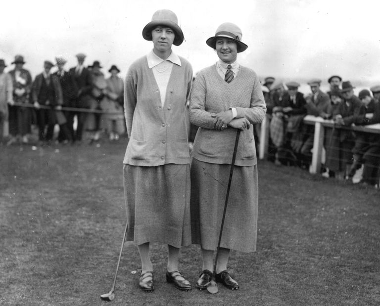 Joyce Wethered and Cecil Leitch at the 1925 Women's British Open