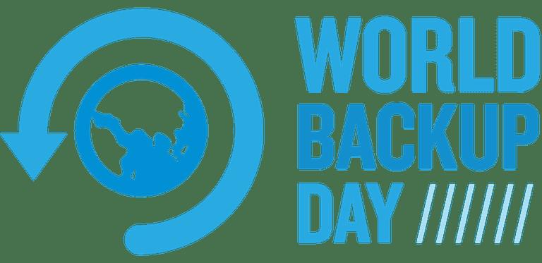 A screenshot of the World Backup Day logo
