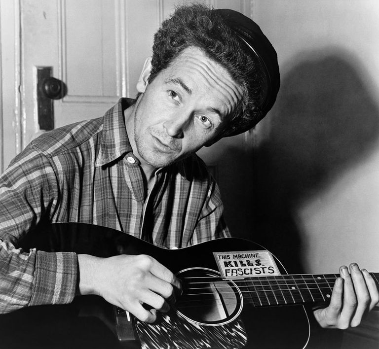 Woody Guthrie, a father of the American Folk movement