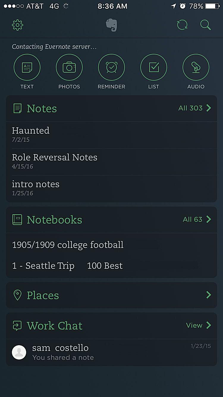 Evernote for iPhone App Review