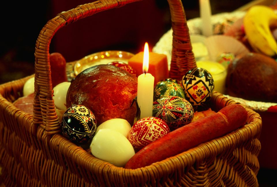 Traditional slovak ukrainian russian easter basket ukrainian basket for blessing of the baskets negle Image collections
