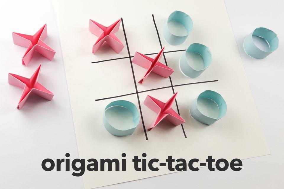 origami tic-tac-toe game
