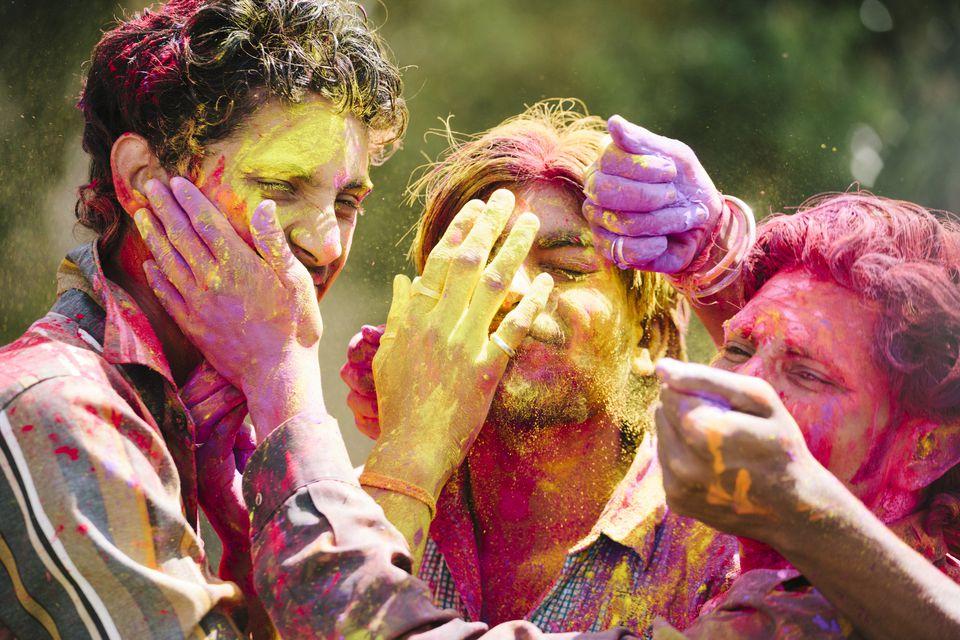 Holi celebrations in Jaipur, India.