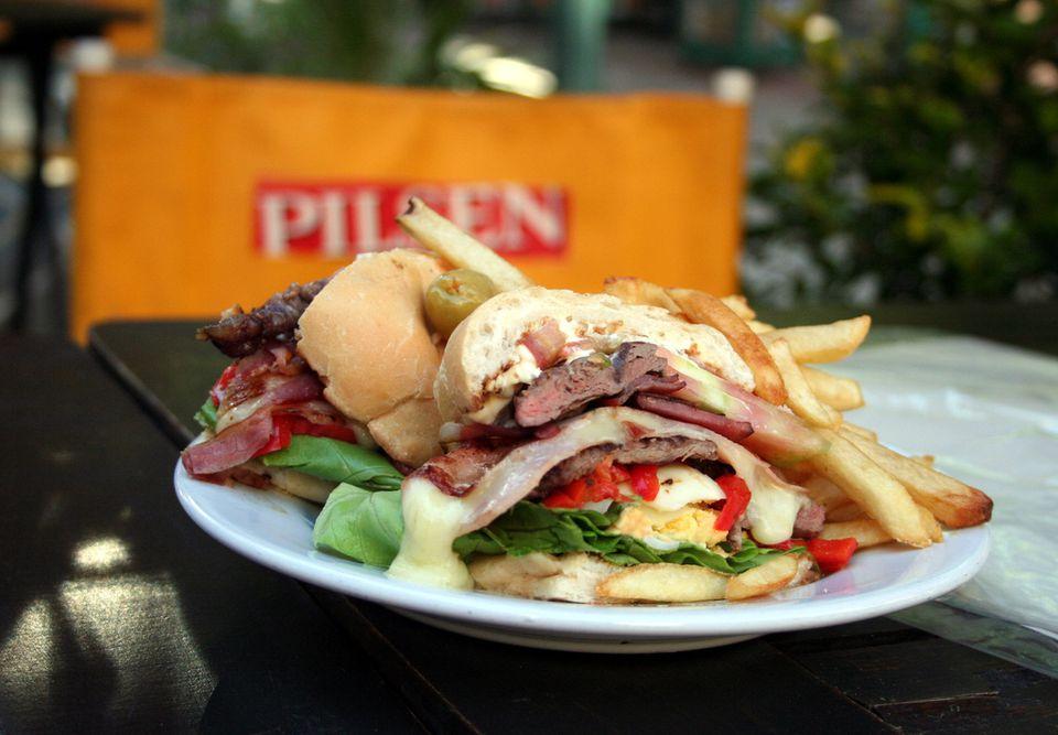 A chivito sandwich