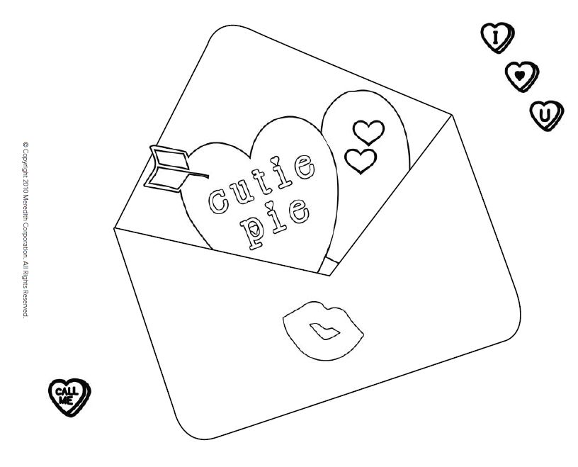 Free Printable Valentines Day Coloring Pages For Kids