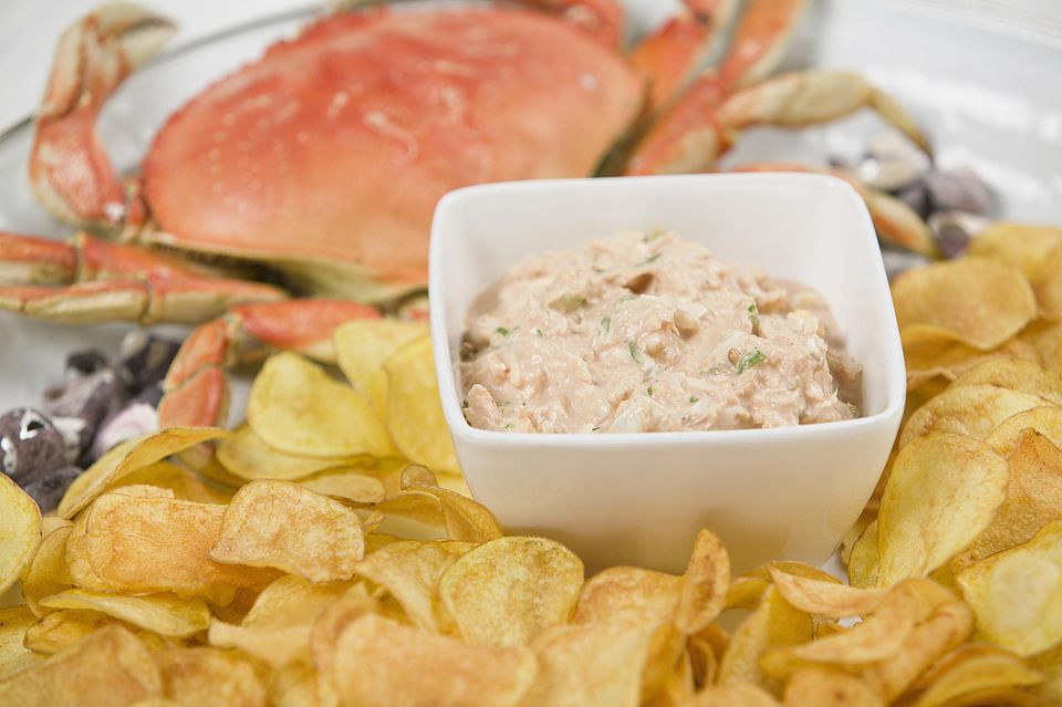 Crab Dip With Chips
