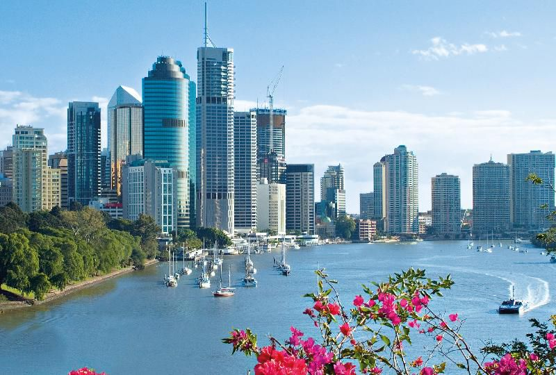 The Brisbane skyline viewed from the river