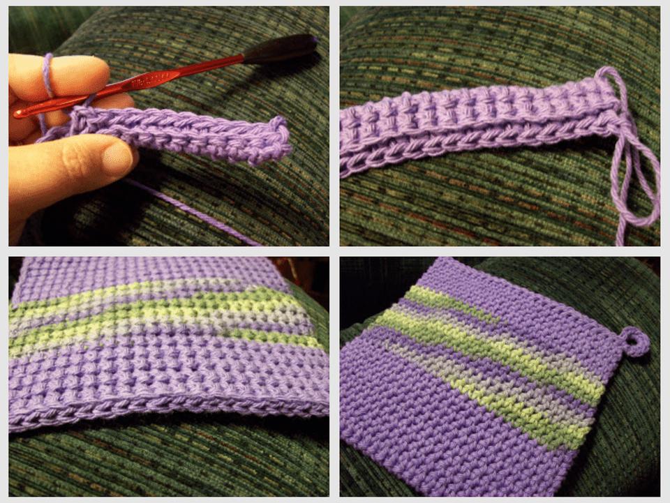 Double Thick Single Crochet Dishcloth