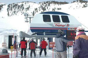 Blazing Zephyr 6 chairlift, Slide Bowl, Mt. Rose Ski Tahoe, Reno / Lake Tahoe, Nevada, NV