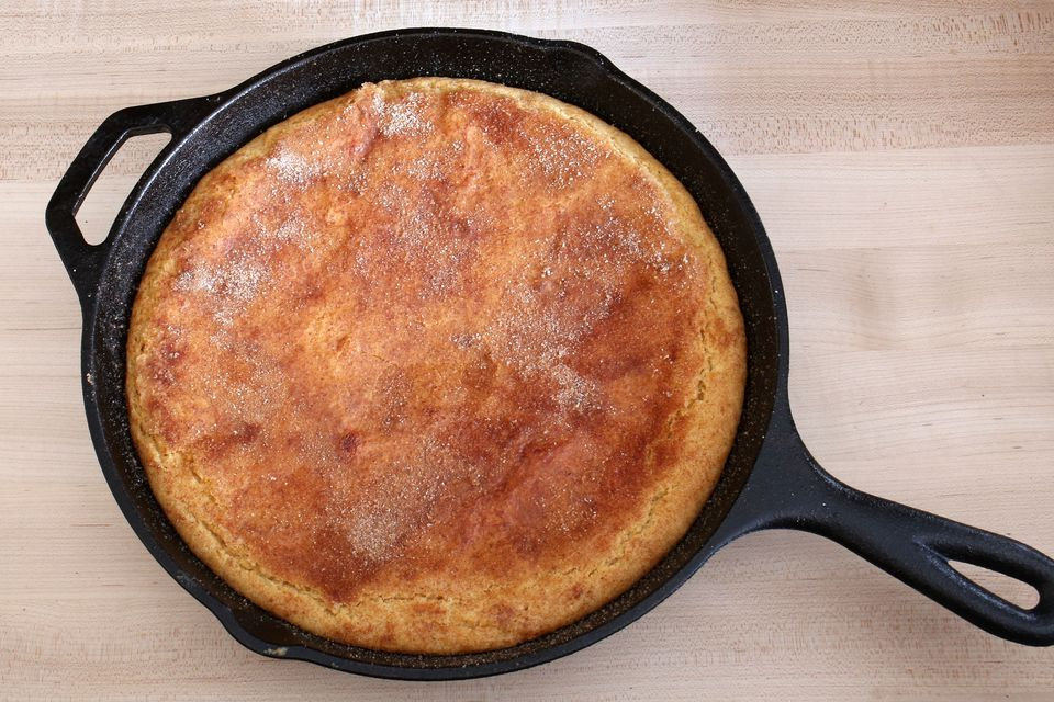giant snickerdoodle skillet cookie
