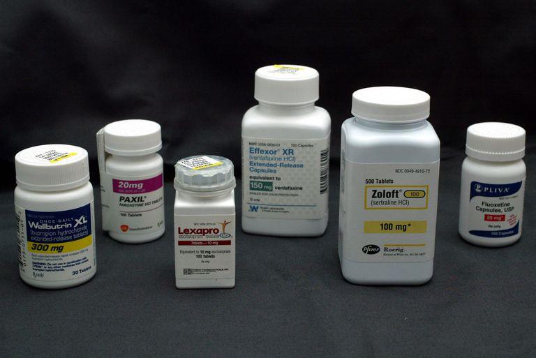 Most common antidepressants